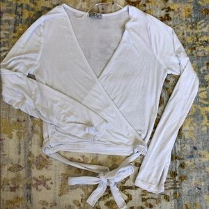 Cotton On Wrap Crop Top